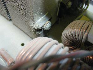 Пыль внутри источника питания BVP Electronics